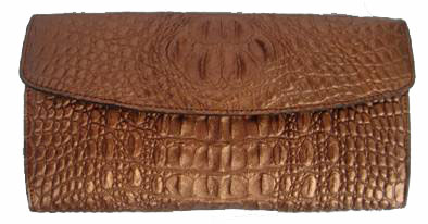Ladies Crocodile Leather Clutch Wallet  #CRW466W-07