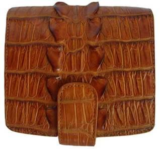 Ladies Tail Crocodile Leather Wallet in Light Brown (Tan) Crocodile Skin #CRM469W-01
