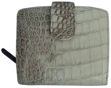 Ladies Belly Crocodile Leather Wallet in Natural Colour Crocodile Skin #CRM469W-02