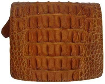 Ladies Crocodile Leather Wallet in Light Brown(Tan) Crocodile Skin #CRM469W-04