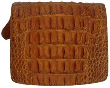 Ladies Crocodile Leather Wallet in Light Brown(Tan) Crocodile Skin #CRM469W-04