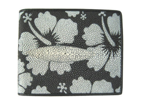 Genuine Stingray Leather Wallet in Flower Design  #STW492W