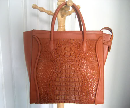 Genuine Crocodile HandBag in Tan Crocodile Leather #CRW300H-TA