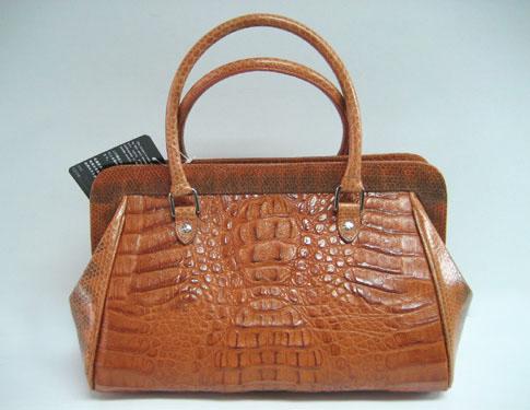 Genuine Alligator Skin Bag in Light Brown (Tan) Crocodile/Alligator Leather #CRW220H-05