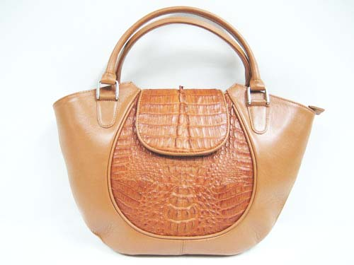 Genuine Crocodile Handbag in Light Brown Crocodile Leather #CRW246H