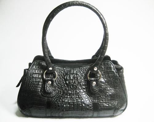 Genuine Crocodile Handbag in Black Crocodile Leather #CRW249H-03