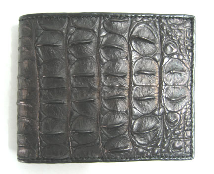 Genuine Crocodile Leather Wallet in Black Crocodile Leather #CRM447W-03