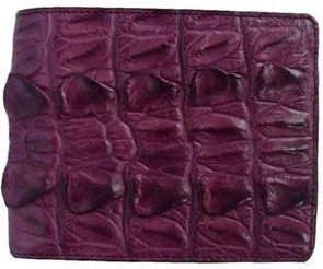 Genuine Crocodile Leather Wallet in Purple Crocodile Leather #CRM451W-03