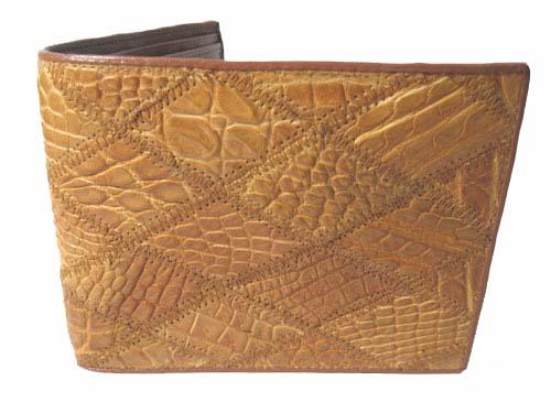 Genuine Crocodile Leather Wallet in Light Brown Crocodile Skin  #CRM458W-07