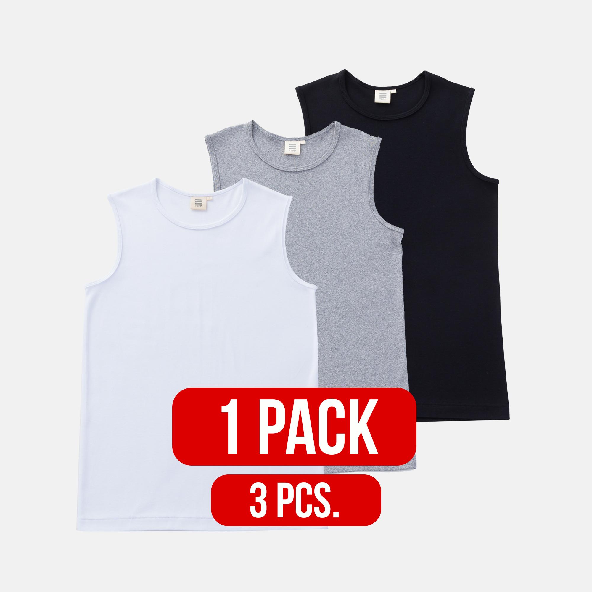 Round neck sleeveless shirt MIX (1Pack)(3PCS.)