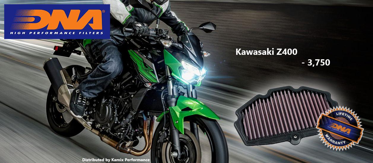 กรองอากาศ DNA Air Filters for Kawazaki Z400 2019
