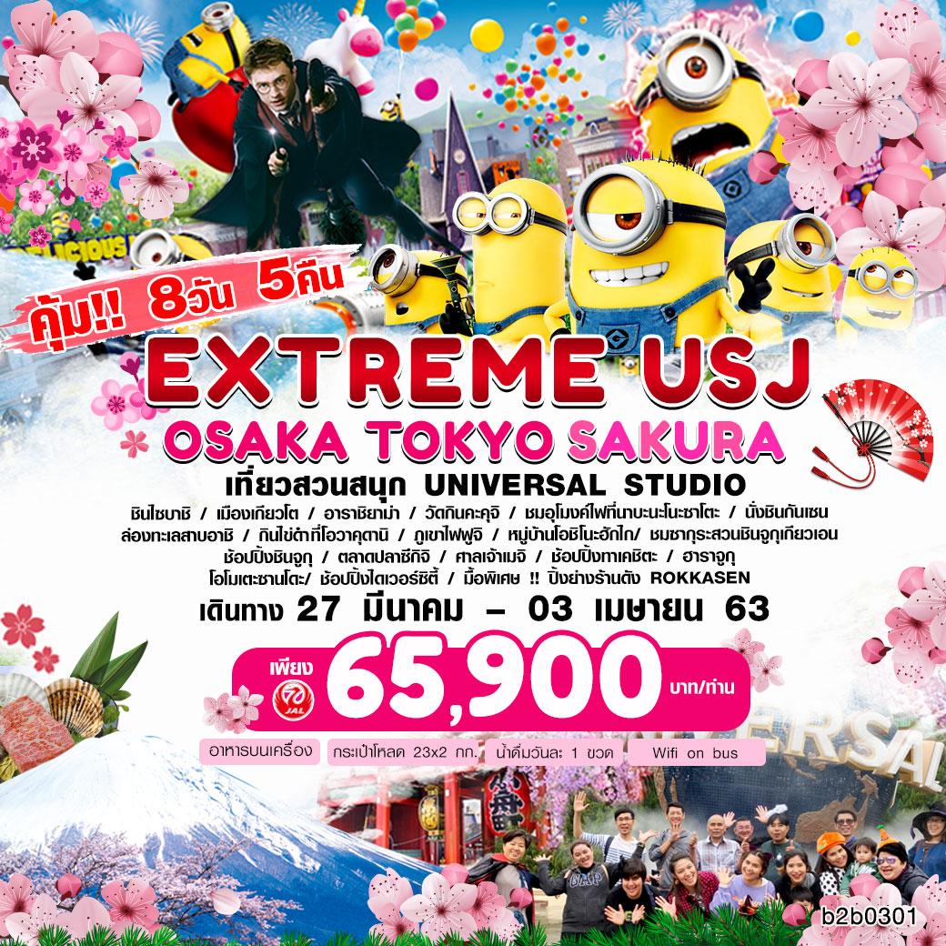 ทัวร์ญี่ปุ่น : โอซาก้า โตเกียว EXTREME USJ-OSAKA TOKYO FLOWER