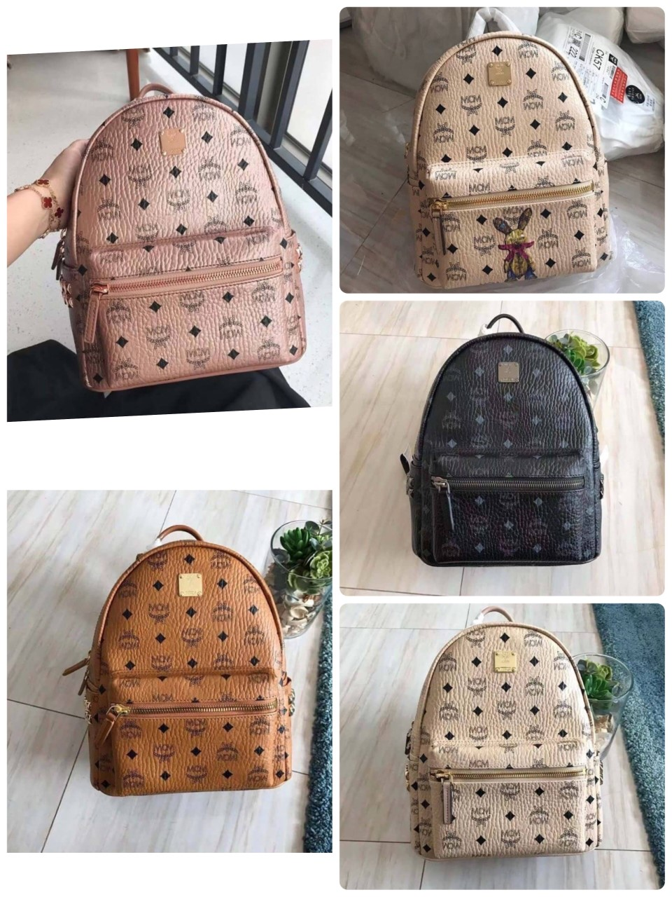 MCM backpack  original leather