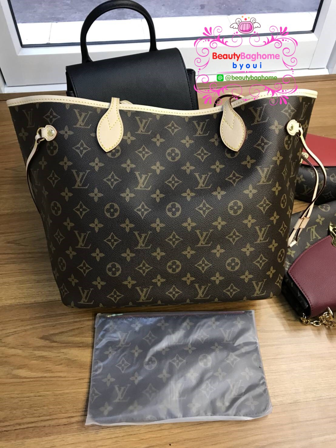 Louis vuitton Neverfull MM งานHiend 1:1
