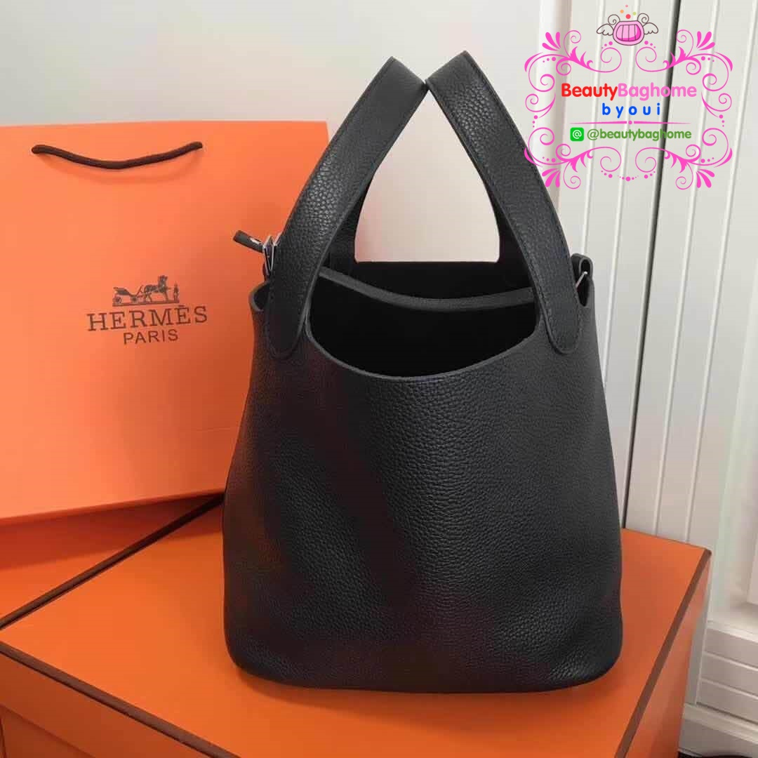 Hermes picotion 22 togo leather สีดำ  งาน Hiend1:1