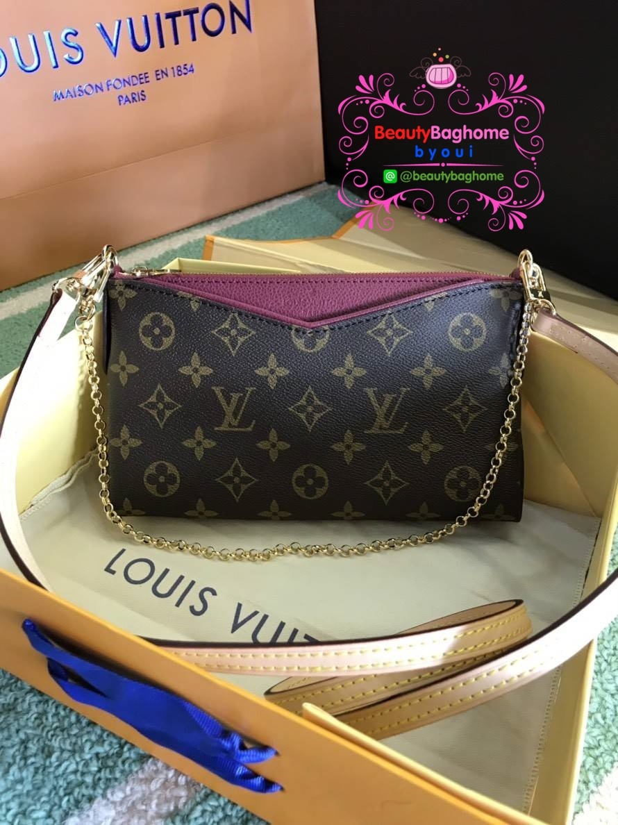 Louis vuitton mini pallas clutch  งานHiend Original leather