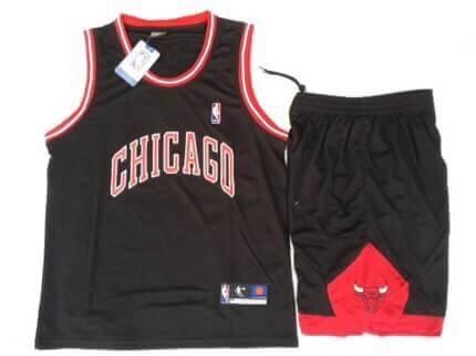 ชุดบาสเกตบอล CHICAGO สีดำ