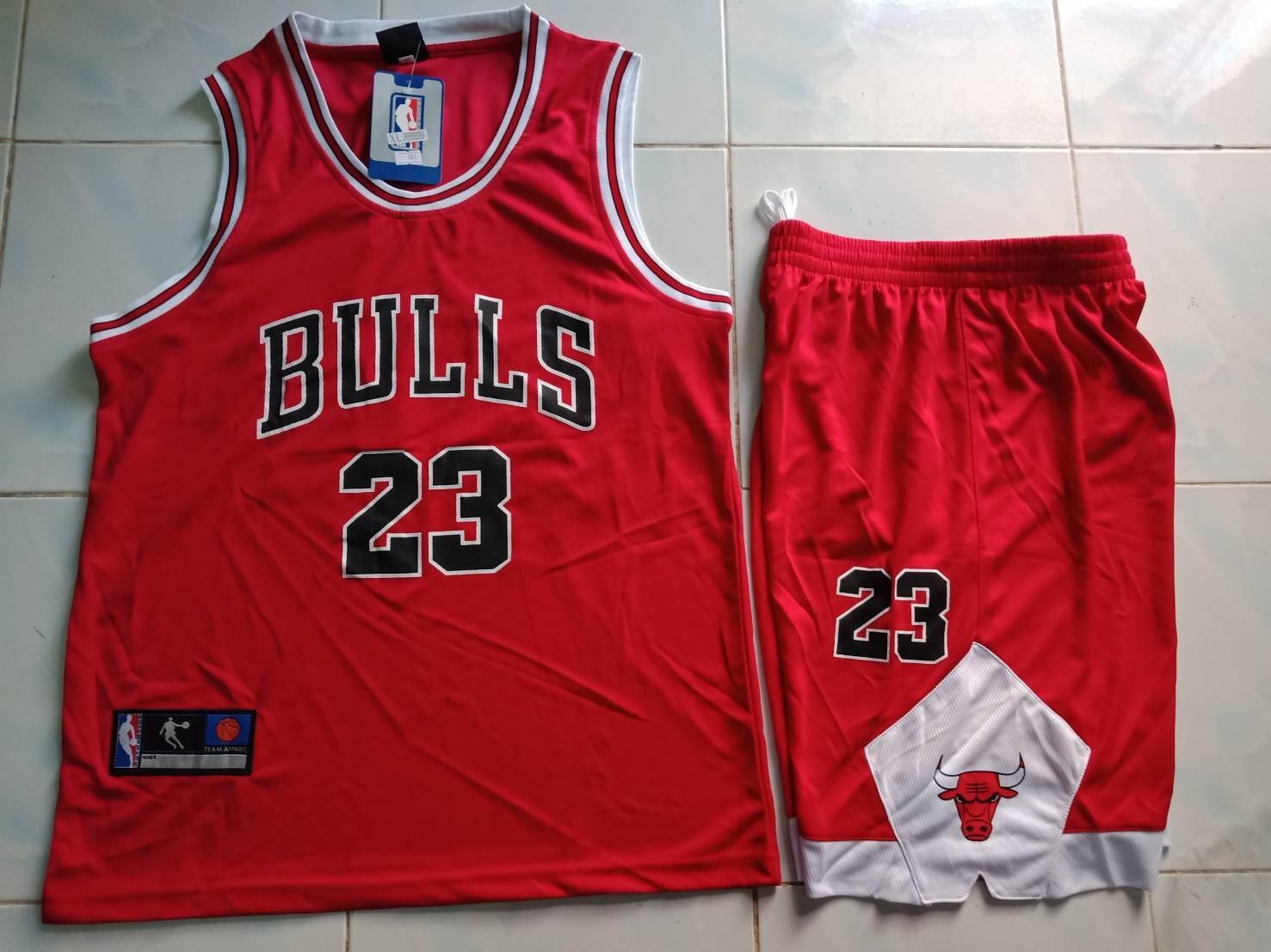 ชุดบาส Bulls เบอร์ 23 สีแดง