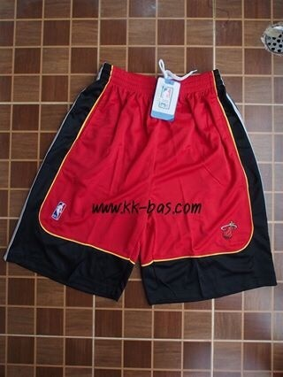 กางเกง NBA Miami Heat สีแดง-ดำ