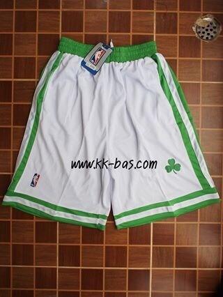 กางเกง NBA Boston Celtics สีขาว ขอบเขียว