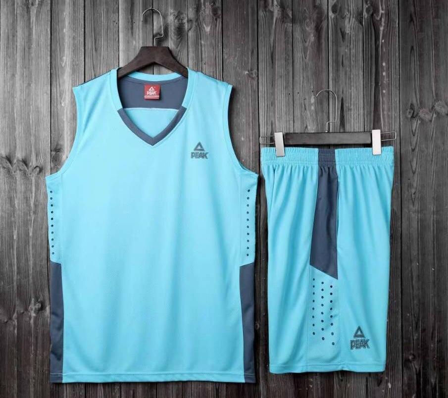 ชุดบาสเกตบอล PEAK สีฟ้า