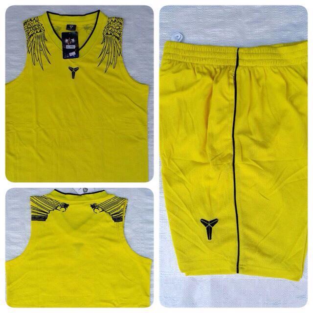 ชุดบาสเกตบอล Kobe004 สีเหลือง