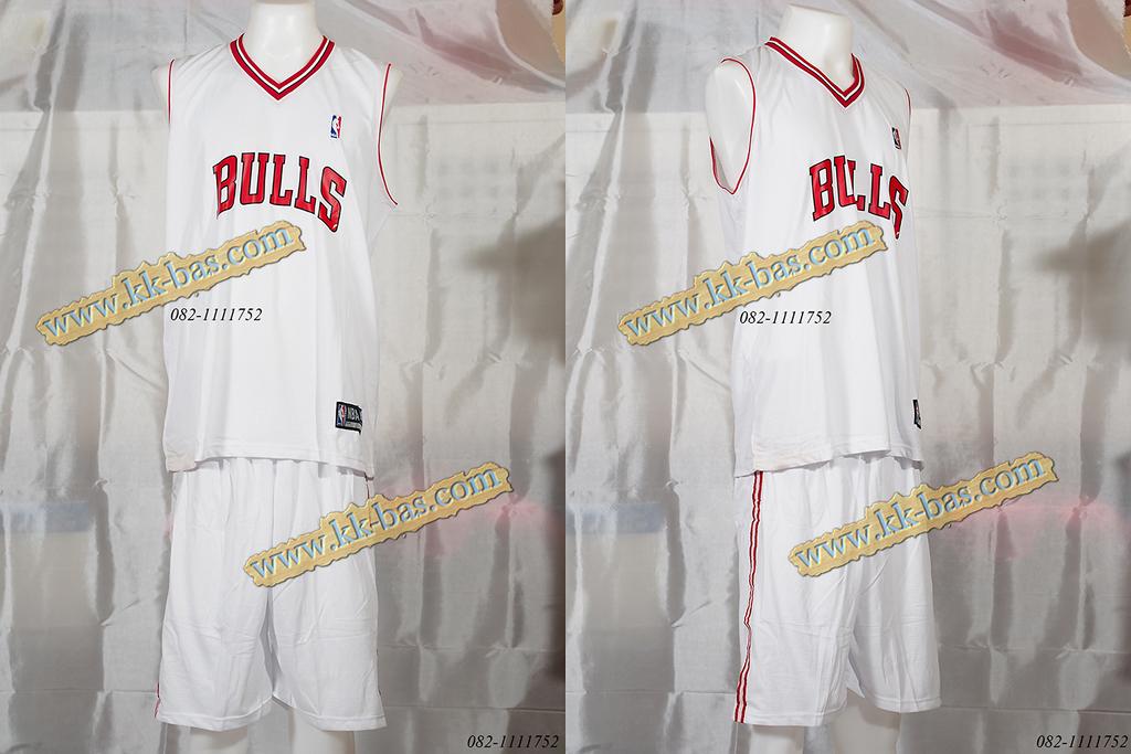 ชุดบาสเกตบอล NBA-BULL สีขาว