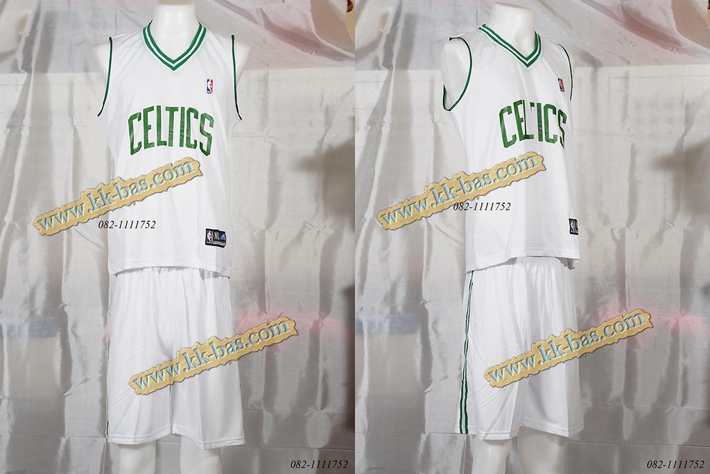 ชุดบาสเกตบอล NBA-Celtic สีขาว