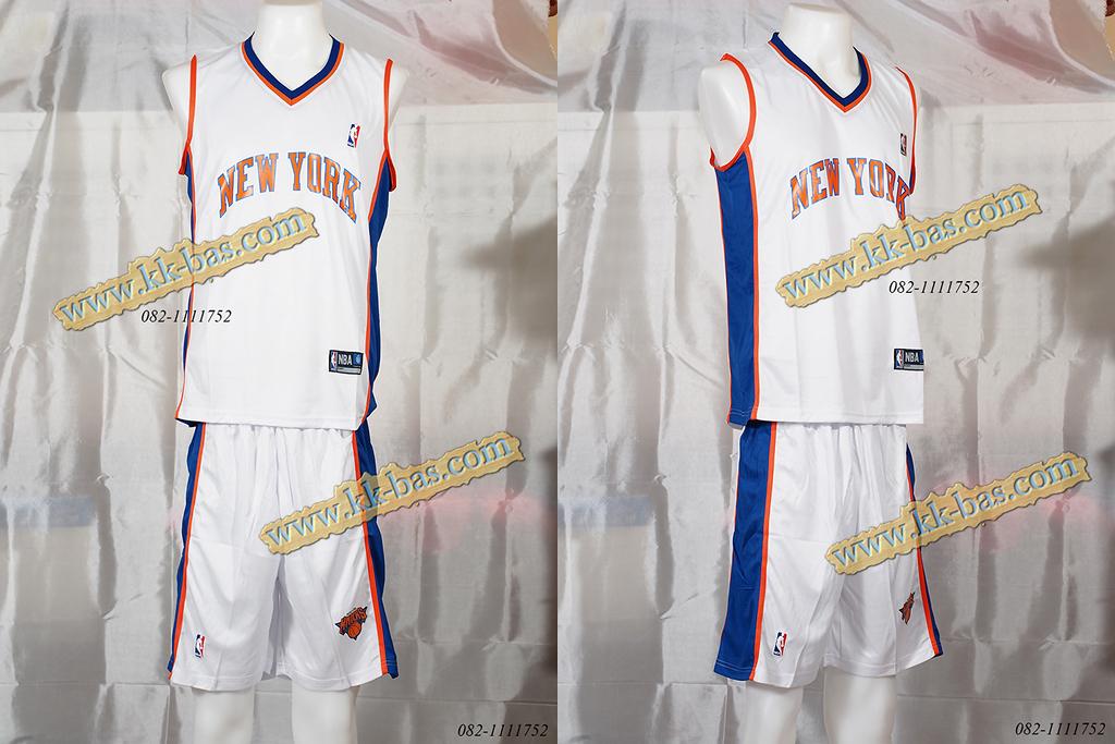 ชุดบาสเกตบอล NBA-Knick สีขาว