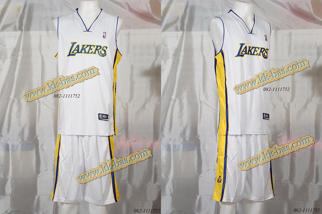 ชุดบาสเกตบอล NBA-Laker สีขาว