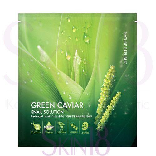 SNAIL SOLUTION GREEN CAVIAR HYDRO GEL MASK