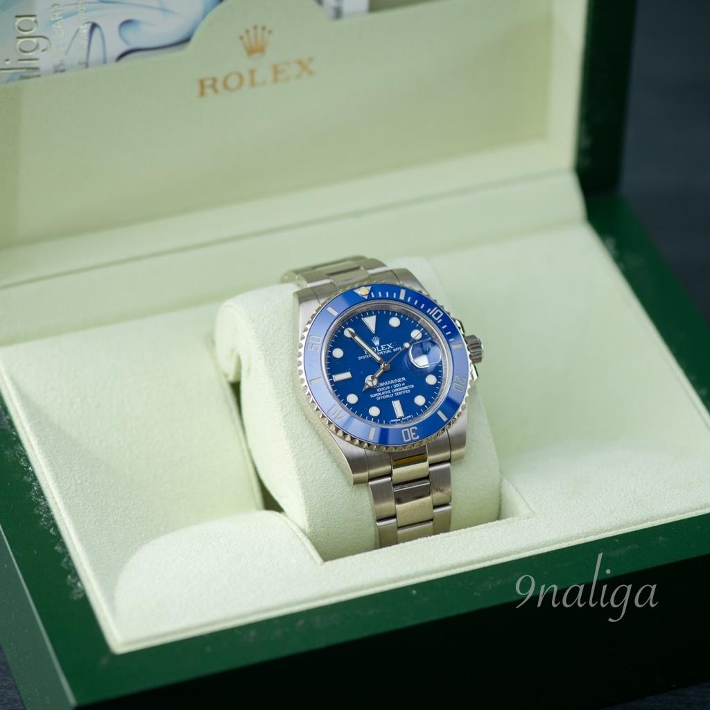 Rolex Submariner Date Blue 'Smurf' white gold
