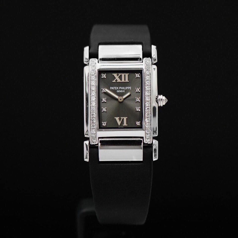 Patek Philippe Twenty4 White Gold Sathin Leather Strap