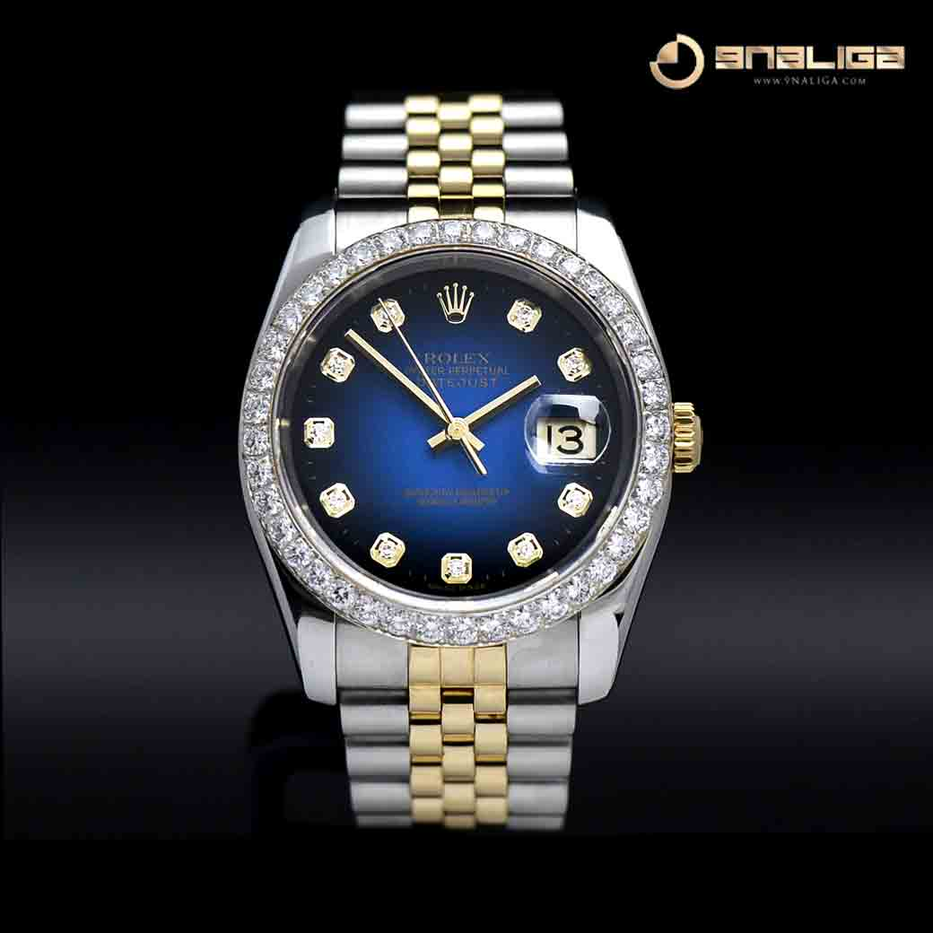 Datejust 36mm 18K Yellow Gold/Steel Blue Dial Jubilee