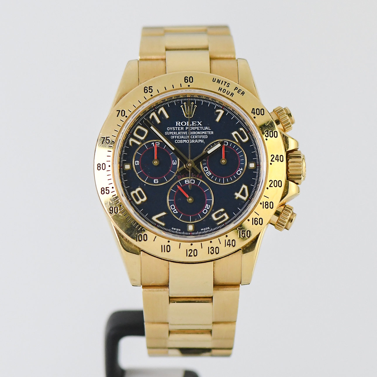 Rolex Daytona Blue Racing Yellow Gold