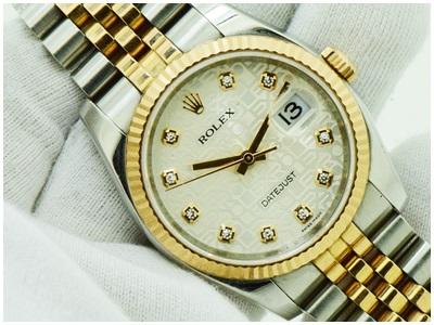 Rolex Datejust Steel & Pink Gold หน้าปัดคอมขาวเพชร สาย จูบิลี่ตัน รุ่นใหม่ ขนาด Man size สภาพสวย