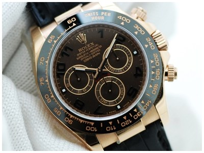 Rolex Daytona Everose Gold Ceremic Chocolate สายหนังสภาพสวย กล่องใบครบๆ ใบไทย น่าเก็บ สุดๆ สวยหรู