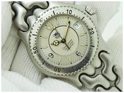 Tag Heuer ก้างปลา หน้าปัด Silver วงแหวน 3ชั้น โฉมสุดท้าย Logo เหล็ก สวยมาก Chronograph Automatic ขนาด Man size