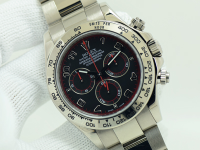 Rolex Daytona White Gold -Spider Dial Red Hand Serie D White Gold Strap Case 40m With Paper  (นาฬิกามือสอง,นาฬิกาRolexมือสอง)