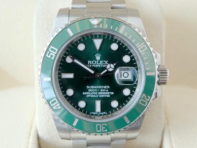 Rolex Submariner Date Ceremic Green หน้าปัดเขียว ขอบเขียว สภาพสวย หายาก The Best Seller ขายดีที่สุด วันนี้ ขนาด Man size 40M  (นาฬิกามือสอง,นาฬิกาRolexมือสอง)
