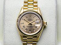 Rolex President Yellow Gold หน้าทอง หลักเพชร โรมัน Lady size