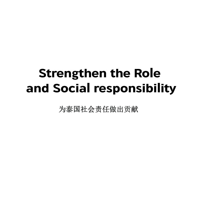 Strengthen the Role and Social responsibility