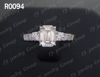 แหวนเพชร Emerald Cut