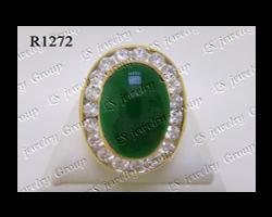 แหวนหยกพม่าธรรมชาติหลังเบี้ย (Certified Natural Imperial Burmese Jade Ring)