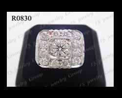 แหวนเพชร (Diamonds Ring) เพชร Heart & Arrow - Russian Cut
