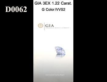 GIA 3EX 1.22 Carat