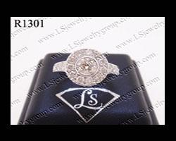 แหวนเพชร ล้อม (Diamonds Ring) เพชร Heart&Arrow - Russian Cut