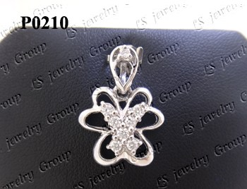 จี้เพชร (Diamond Pendant) เพชร Heart & Arrow - Russian Cut Finest Diamonds