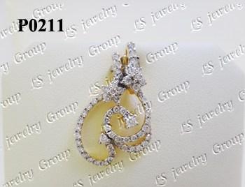 จี้เพชร (Diamonds Pendent) เพชร Heart & Arrow - Russian Cut Finest Diamonds