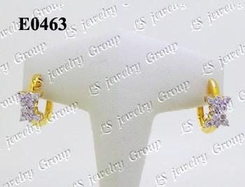 ต่างหูเพชร (Diamonds Earring) เพชร Heart & Arrow - Russian Cut Finest Diamonds